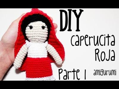 DIY Caperucita Roja Parte 1 amigurumi crochet.ganchillo (tutorial)