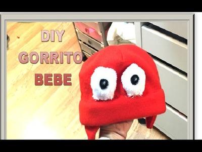 DIY Como hacer un gorro de bebe con tela de forro polar