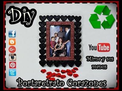 Diy  Portaretrato Corazones. Mirna y sus manus. Diy Hearts Photo Frame