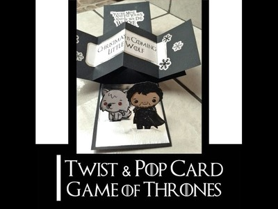 DIY | Twist & Pop Card con decoración de Game of Thrones