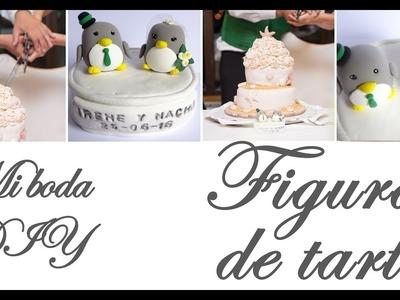 MI BODA DIY: FIGURAS DE NOVIOS PARA LA TARTA (pingüinos) | Detalles y decoración paso a paso