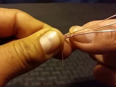 Tejido de alambre para joyeria tecnica