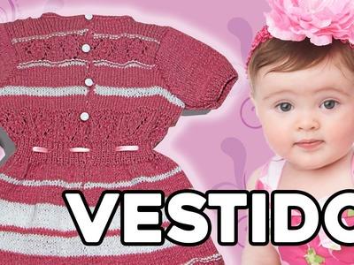 Vestido para Bebé - Fácil - Tejido