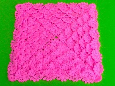 Colchita o mantita para bebé tejido a crochet - paso a paso