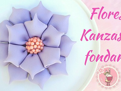 Como hacer flores Kanzashi con fondant | Mi tarta preferida