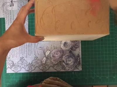 Como hacer una caja decorada con hojas de scrapbook + Lanzamiento
