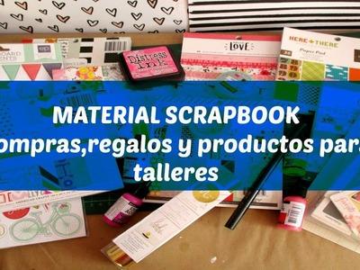 Compras de Material Scrapbook Parte 1.Haul scrapbook.Cristina Su- Perú