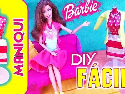 DIY| Como hacer MANIQUI para MUÑECAS BARBIE| DIY- Manualidades para muñecas BARBIE