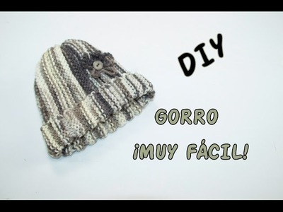 DIY. GORRO FÁCIL DE HACER