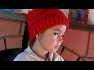 Gorro Con Agujero Para Sacar el Cabello En Crochet ♥ Damary ♥