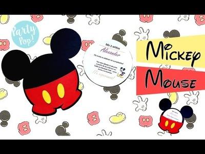 Invitacion infantil de Mickey mouse + MOLDES (DIY)  | Party pop!