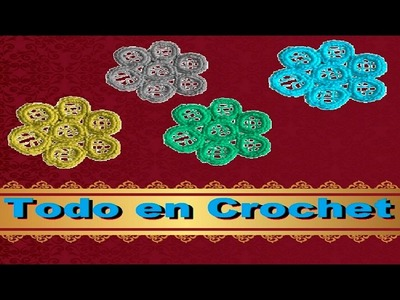 Original flor en Crochet facil y rapido