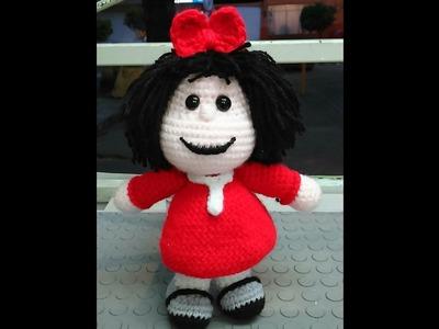 Pies Muñeca Mafalda a Crochet (ZURDO)