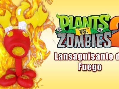 PLANTS VS ZOMBIES 2 LANZAGUISANTES DE FUEGO EN ✓ PORCELANA ✓ PLASTILINA ✓ POLYMER CLAY