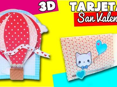 Tarjetas para San Valentin.Tarjeta deslizable y tarjeta 3D. DIY TARJETAS 14 FEBRERO