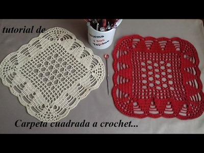 Carpeta cuadrada a crochet