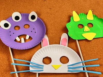 Cómo Hacer Máscaras para Niños con Platos Desechables - Manualidades para Niños - SuperDivertido