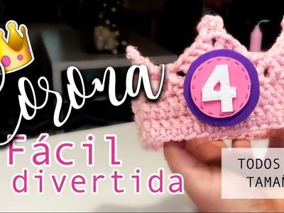 Corona de Ganchillo ¡¡MUY FÁCIL!! - Todos los tamaños - Crochet crown