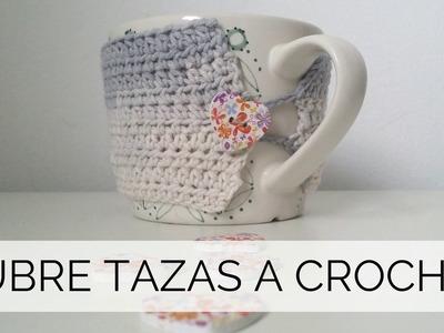 CUBRE TAZAS A CROCHET PASO A PASO