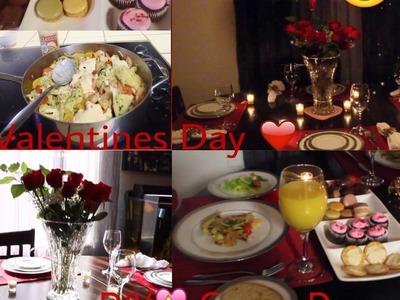 DIY Cena Romantica.,Platillo,Postre,Decoracion de mesa.San Valentin
