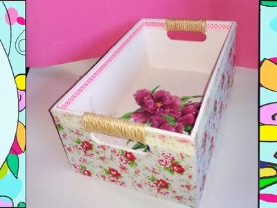 DIY Como decorar una caja de madera con papel mache, y decoupage  Regalo dia san valentin