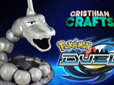 DIY ONIX with Rock Base Cold Porcelain. Polymer Clay Tutorial | POKEMON DUEL