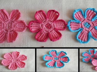 Flor en crochet facil y rapido  paso a paso