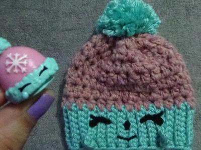 Gorro de Fantasia Woolly Hat Shopkins a Crochet