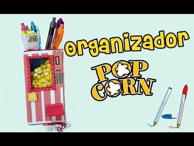 Mini ORGANIZADOR de escritorio ORIGINAL y FÁCIL, Maquina de palomitas, Manualidades DIY
