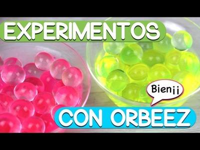 NUEVOS EXPERIMENTOS CON ORBEEZ FOSFORESCENTES, METALIZADOS,  con esmalte.