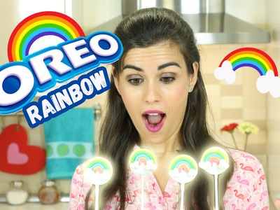 Oreo cake pops de arcoíris (rainbow) sin horno | Cris and Cream