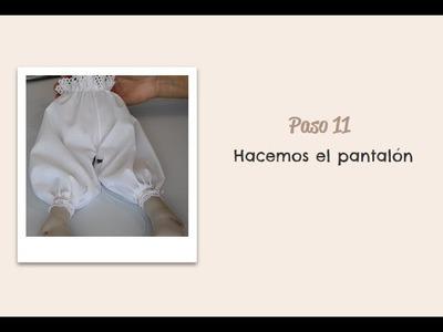 Paso 11 -  Hacemos el pantalón -  Muñeca Angy - Diy - handmade Dolls