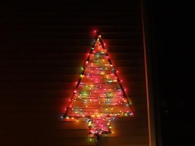 Pino de luces navideñas.DIY
