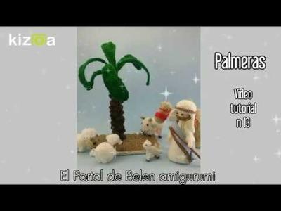 Portal de Belen amigurumi - Video 13 - Palmeras de Belen - Ganchilleando Lokuras y Alas de Hada
