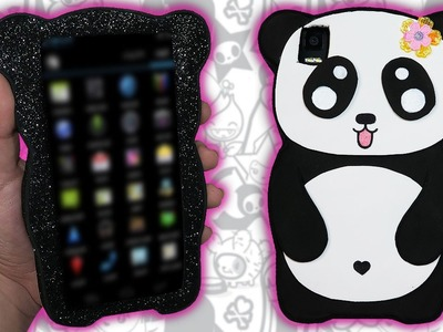 ♥ Tutorial: Funda para Móvil de Panda KAWAII DIY ♥