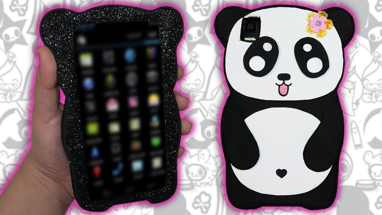 ♥ Tutorial: Funda para Móvil de Panda KAWAII DIY ♥