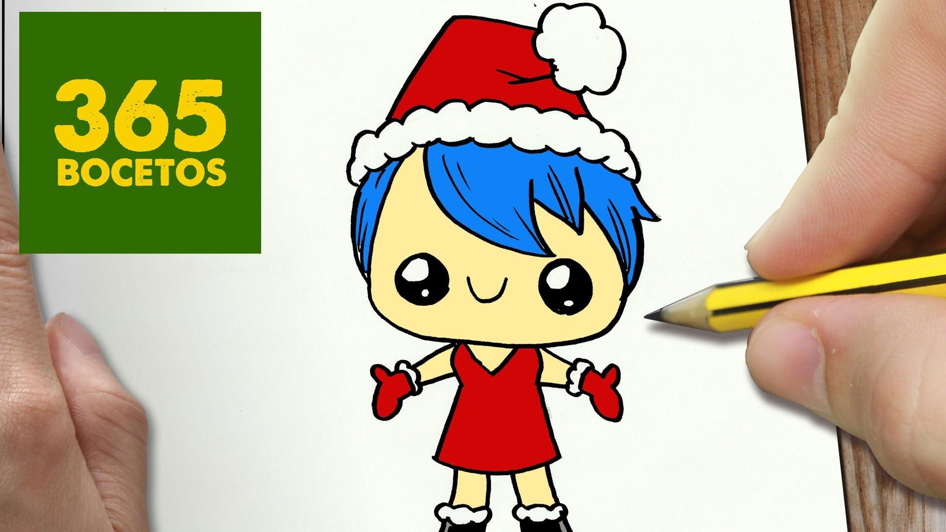 Como Dibujar A Alegria Para Navidad Paso A Paso Dibujos Kawaii