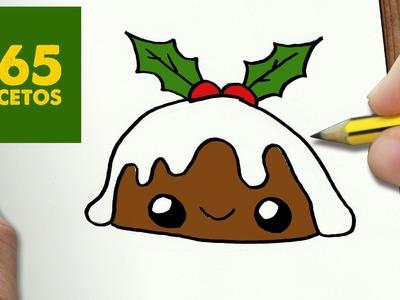 COMO DIBUJAR BOLA DE HELADO PARA NAVIDAD PASO A PASO: Dibujos kawaii navideños - draw a ice cream