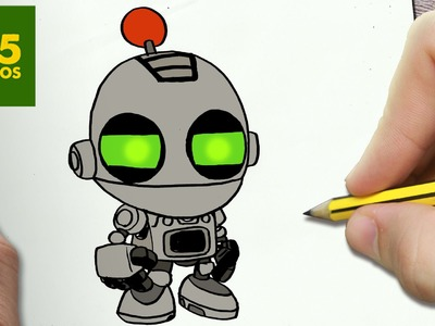 COMO DIBUJAR CLANK KAWAII PASO A PASO - Dibujos kawaii faciles - How to draw a CLANK