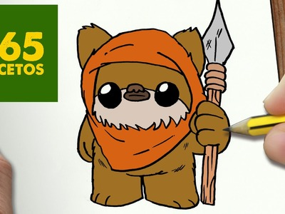 COMO DIBUJAR EWOK KAWAII PASO A PASO - Dibujos kawaii faciles - How to draw a EWOK