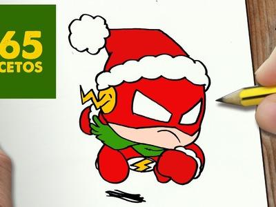COMO DIBUJAR FLASH PARA NAVIDAD PASO A PASO: Dibujos kawaii navideños - How to draw a Flash