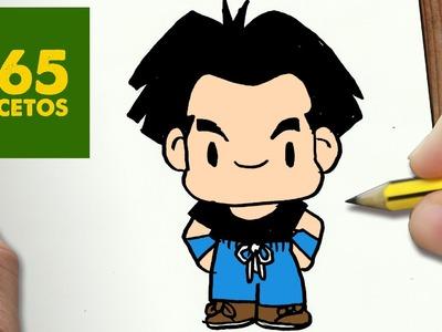 COMO DIBUJAR KRILIN KAWAII PASO A PASO - Dibujos kawaii faciles - How to draw a KRILIN