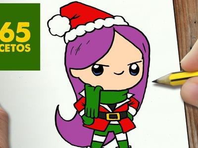 COMO DIBUJAR MAL DE DESCENDIENTES PARA NAVIDAD PASO A PASO: Dibujos kawaii navideños -  Mal