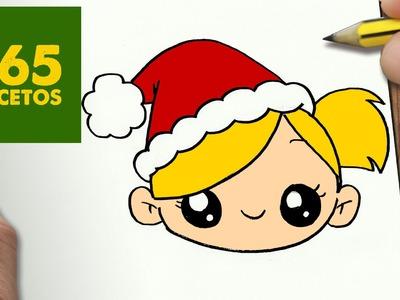 COMO DIBUJAR NIÑA PARA NAVIDAD PASO A PASO: Dibujos kawaii navideños - How to draw girl