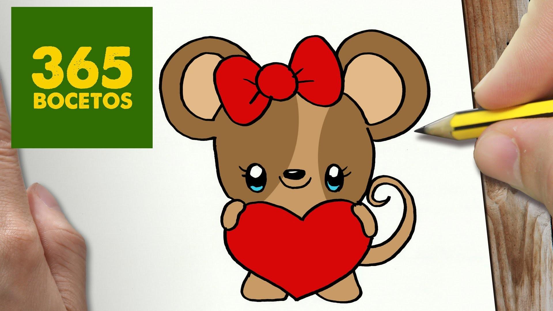 como dibujar raton kawaii paso a paso dibujos kawaii faciles how