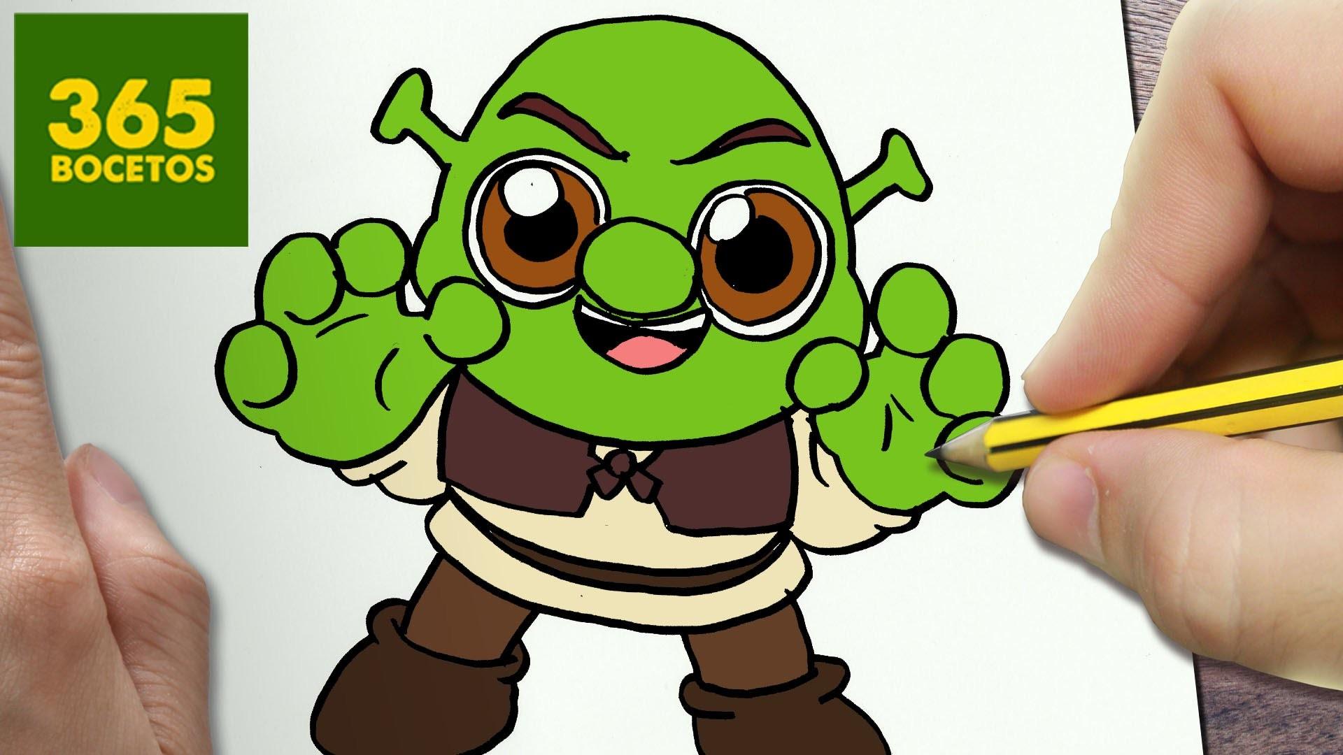 Como Dibujar Shrek Kawaii Paso A Paso Dibujos Kawaii Faciles How