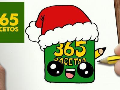 COMO DIBUJAR UN 365BOCETOS PARA NAVIDAD PASO A PASO: Dibujos kawaii navideños - draw 365BOCETOS