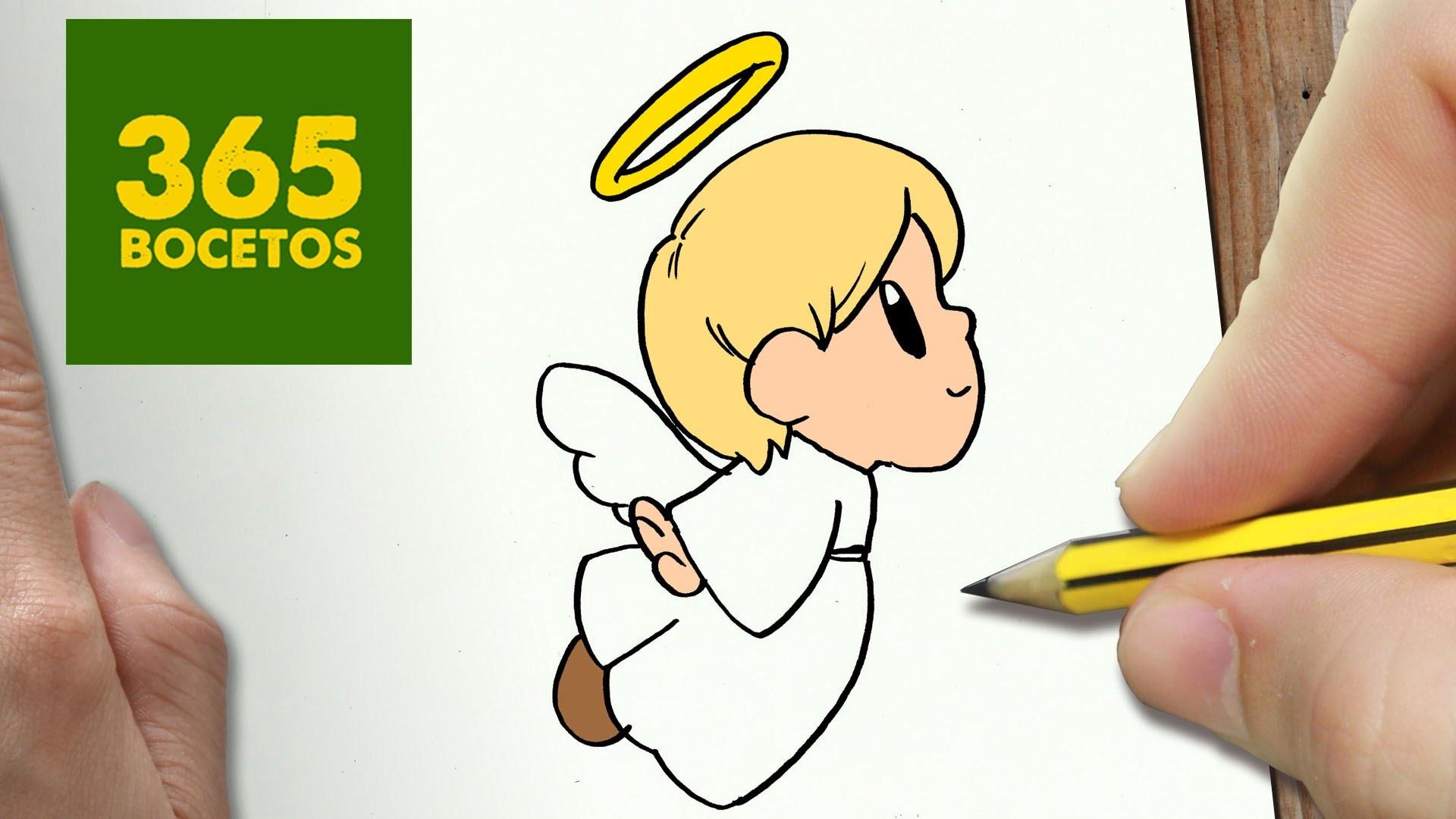 Como Dibujar Libreta Kawaii Paso A Paso: COMO DIBUJAR UN ANGEL PARA NAVIDAD PASO A PASO: Dibujos