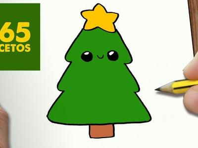 COMO DIBUJAR UN ARBOL PARA NAVIDAD PASO A PASO: Dibujos kawaii navideños - How to draw a tree