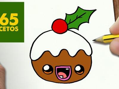 COMO DIBUJAR UN GALLETA PARA NAVIDAD PASO A PASO: Dibujos kawaii navideños - How to draw a cookie